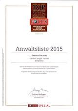 Top-Rechtsanwalt 2015