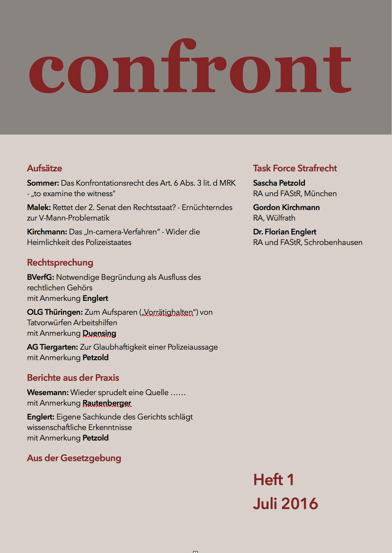 Confront - Zeitschrift für aktive Strafverteidigung